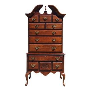 Queen Anne Style Cherry Highboy Dresser