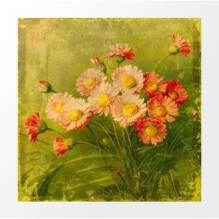 Vintage Pink Floral Postcard Archival Print
