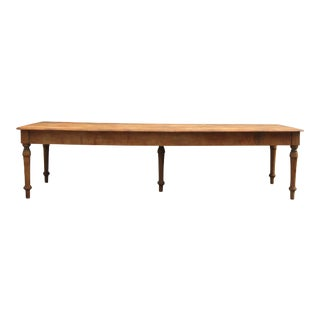 Grand Antique Farm Kitchen Table, 10' Length