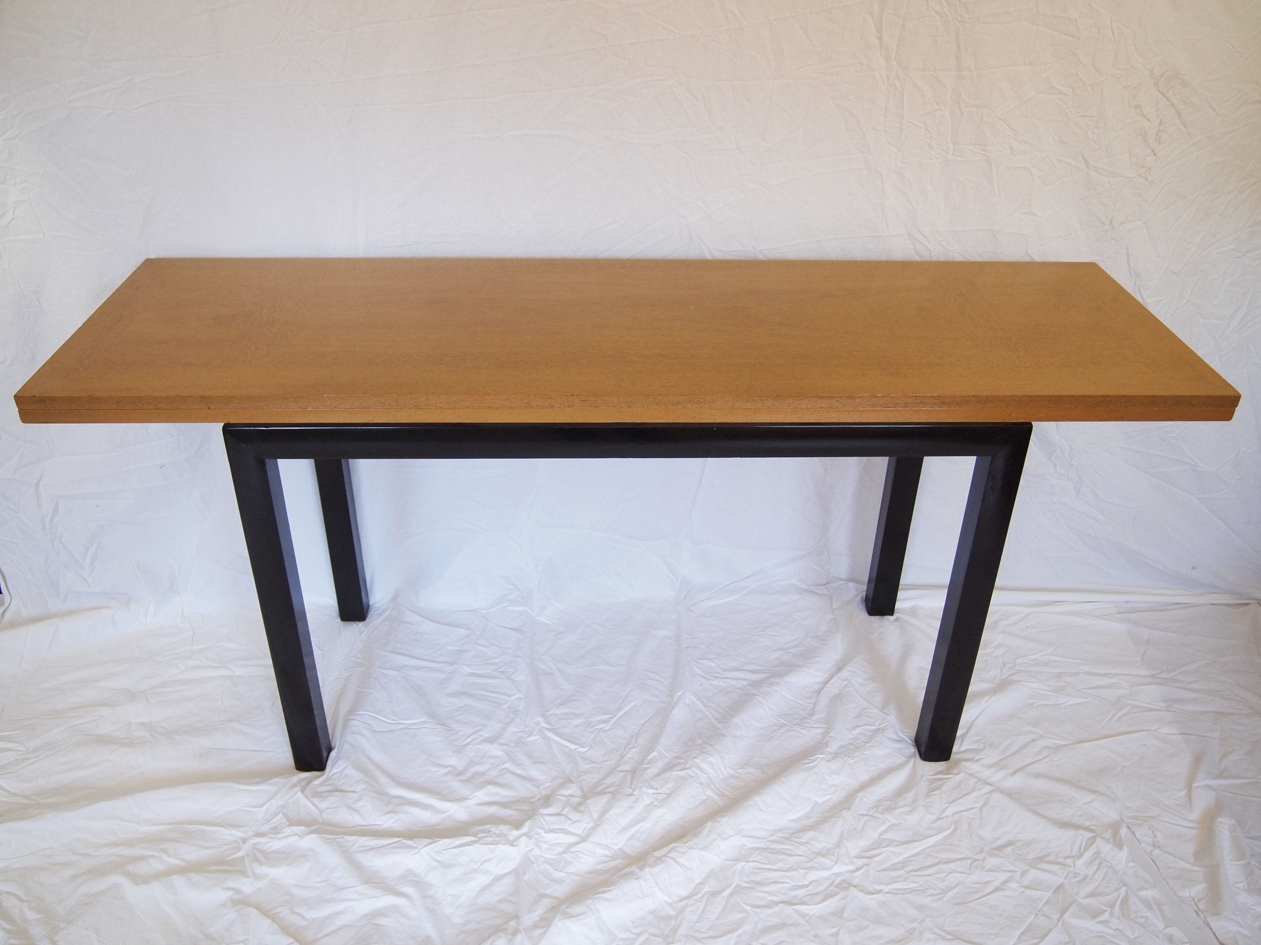 Mid Century Flip Top Table with Ebonized Legs Chairish : 2d9639c0 b410 46b9 8648 a0984bd1e5b6aspectfitampwidth640ampheight640 from www.chairish.com size 640 x 640 jpeg 34kB
