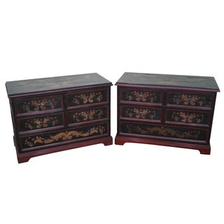Rustic Tuscan Style Chests - A Pair