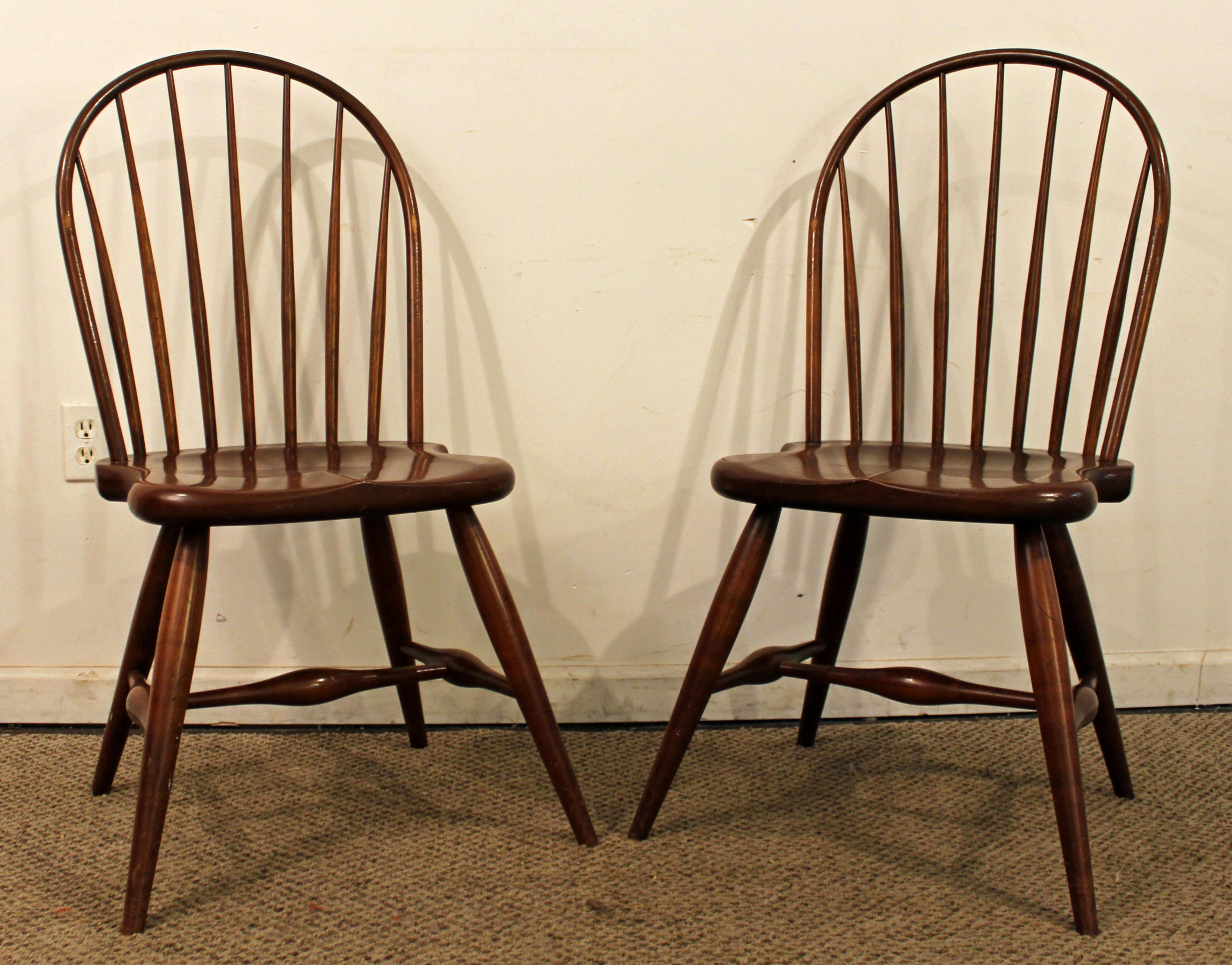 High Quality Duckloe Bros Cherry Hoop Back Windsor Side Chairs   A Pair   Image 2 Of