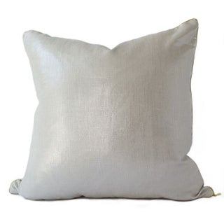 Liquid Silver Linen Pillow
