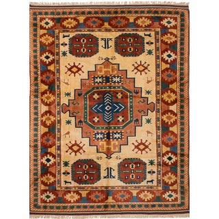 "Vintage Shiravan Turkish Rug - 8'10"" x 12'"