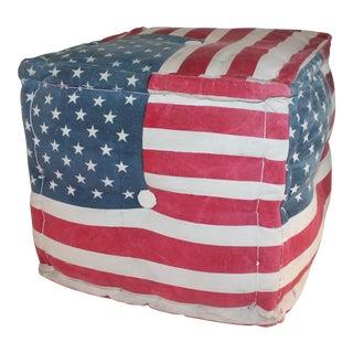American Flag Ottoman