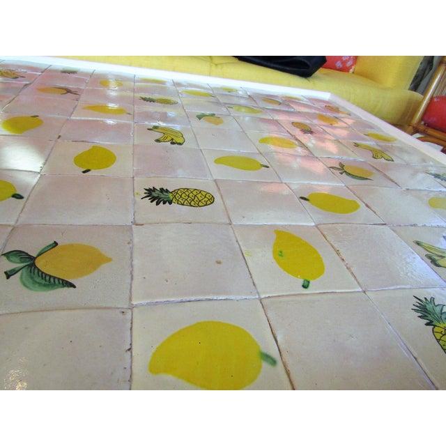 Custom Made Mario Genovesi Tile Top Table - Image 2 of 6