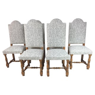 1950s French Oak Dining Chairs - S/6