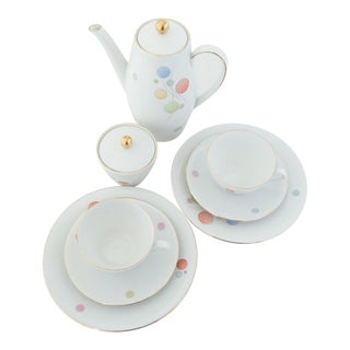 "Seltmann Weiden ""Kaffe Und Kuchen"" Porcelain Coffee Service- 8 Pieces"