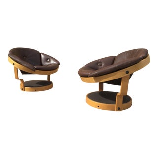 Oddmund Vad Swivel Chairs - A Pair