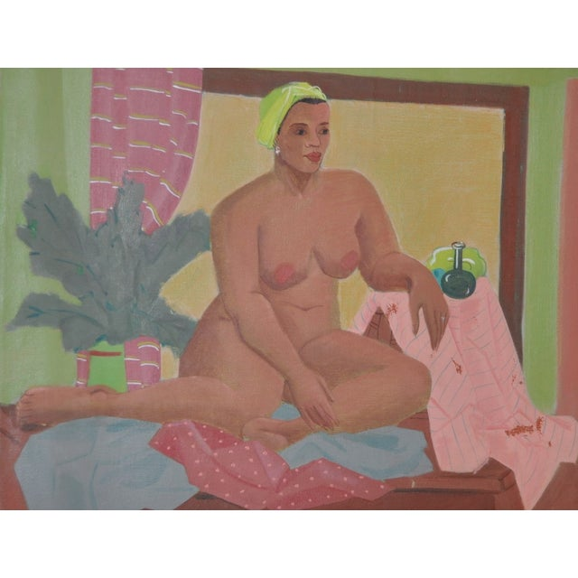Vintage Figurative Nude Oil Painting C.1940's - Image 3 of 6