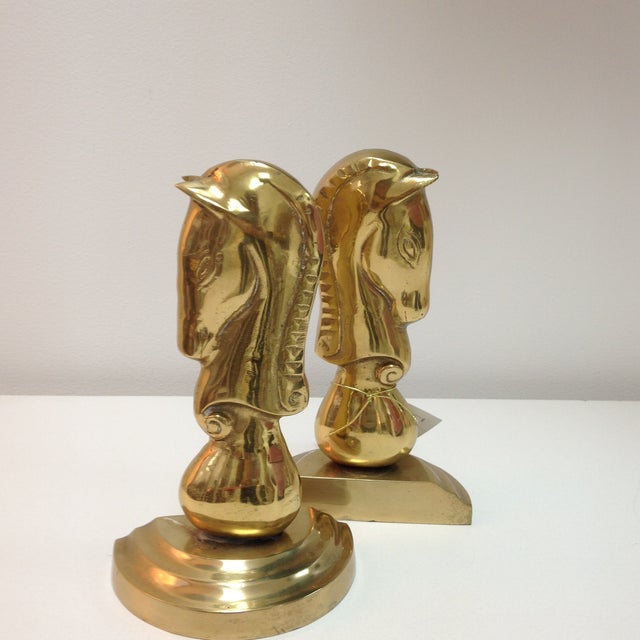 Brass Horse Bookends - Pair - Image 5 of 6