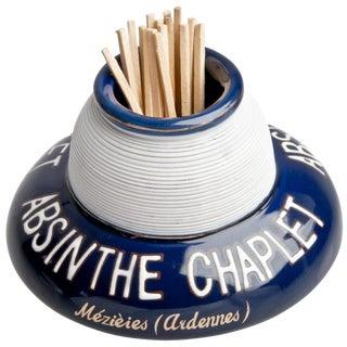 French Absinthe Chaplet Porcelain Match Striker