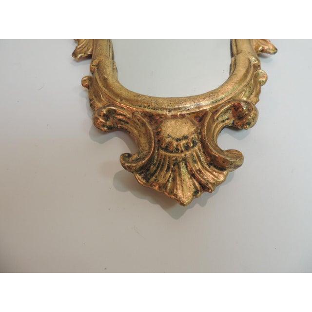 Vintage Florentine Gold Leaf Ornate Mirror - Image 3 of 4