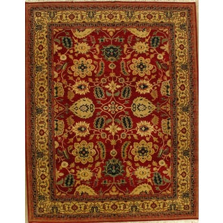 """Red & Gold Agra Rug - 9'2"""" X 11'10"""""""