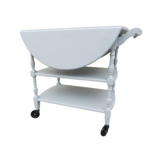 Vintage White Shabby Chic Bar or Tea Cart