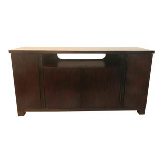 Contemporary Solid Wood Media Console