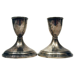 Sterling Silver Candle Holders -  Pair