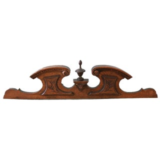 Antique French Carved Wood Pediment