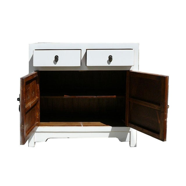 Slim & Narrow White Side Table/Console/Cabinet - Image 3 of 5