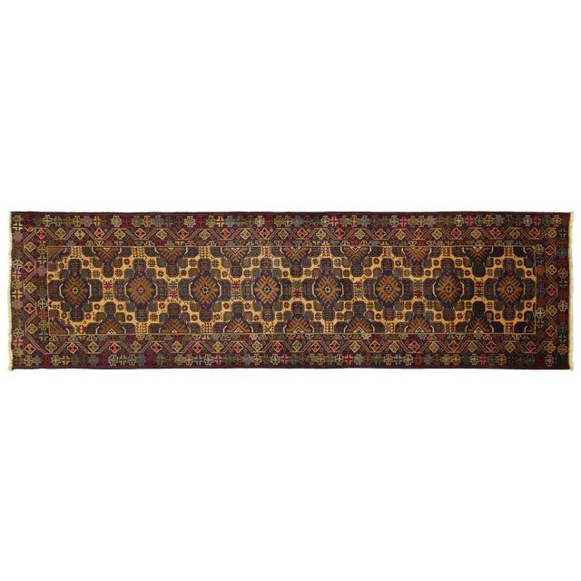 """Image of Tribal Baluch Wool Runner Rug - 2'9"""" x 10'"""