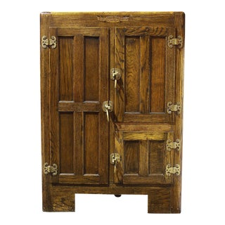 Antique Traditional Oak Ice Box