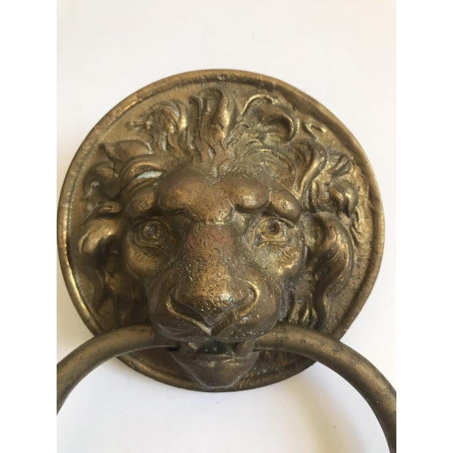 Antique Lion Head Door Knocker - Image 3 of 8
