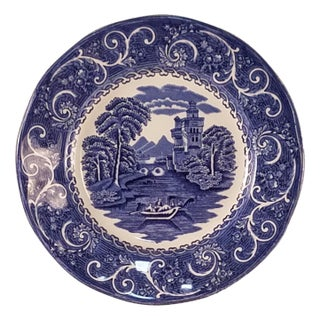 Staffordshire Ironstone River Scene Plate