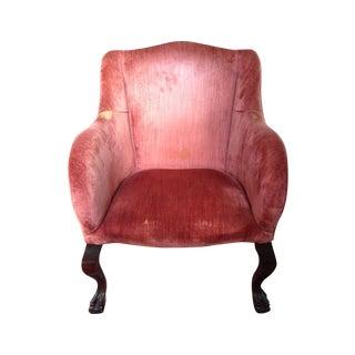 Vintage Velvet Armchair in Pink