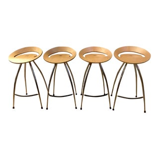 Lyra Magis Natural Beech Bar Stools- Set of 4