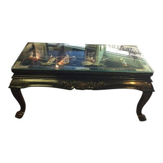 Coffee Table With Carved Top