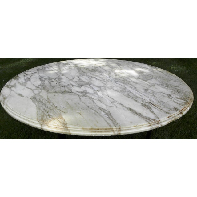 Vintage Mid-Century White Marble Coffee Table - Image 6 of 8