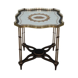 John Richard Regency Eglomise Mirror Top Table