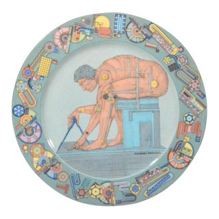 "Eduardo Paolozzi's ""After Newton"" Rosenthal Porcelain Dish"