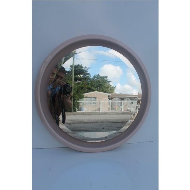 Vintage Ceramic Round Beveled Wall Mirror - Image 2 of 10