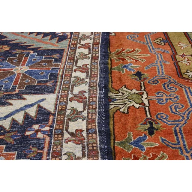"Contemporary Persian Heriz Rug - 15' x 18'10"" - Image 7 of 9"
