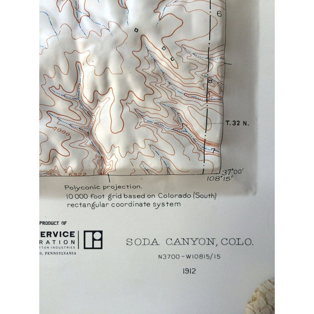 Vintage Relief Map of Soda Canyon Colorado - Image 6 of 6
