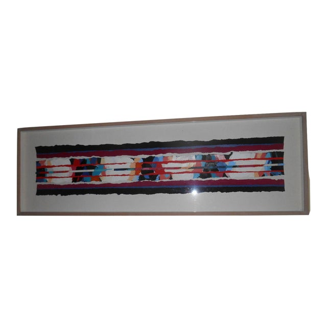 Abstract Mixed Media Textile Artwork - Image 1 of 6