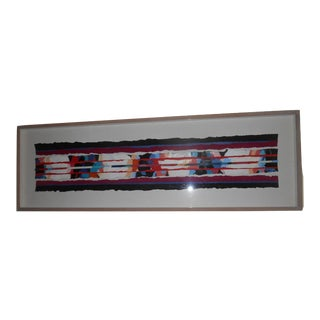 Ken Anderson Shadow Box Framed Abstract Mixed Media Textile Artwork