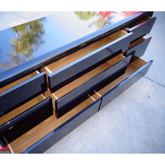 Lane Black Lacquer Hollywood 1987 Chest - Image 6 of 11
