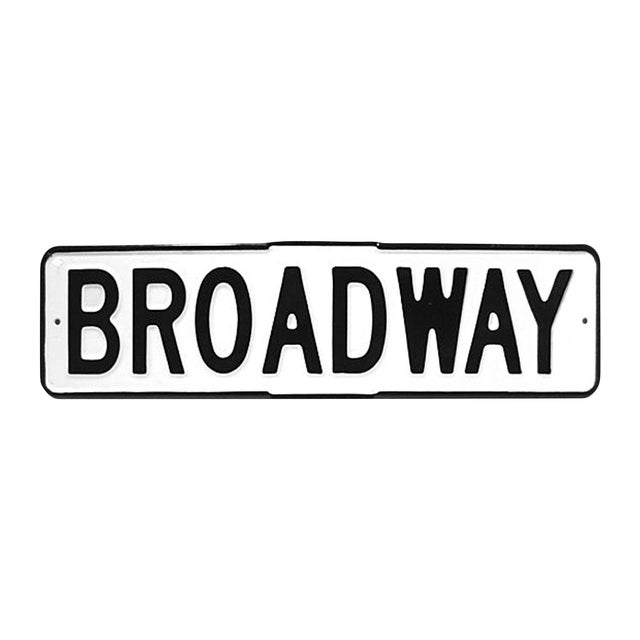 Enamel Broadway Street Sign - Image 1 of 4