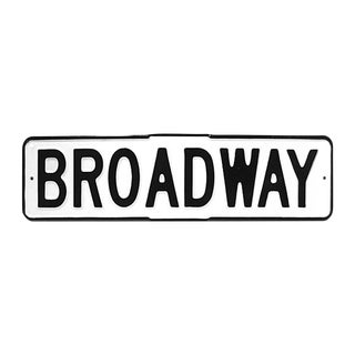 Enamel Broadway Street Sign