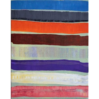 "Original ""Propitiousness"" Stripe Painting from Near and Far Series"