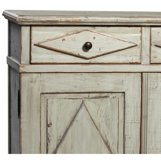 Antiqued Grey Farmhouse Cabinet - Image 2 of 2