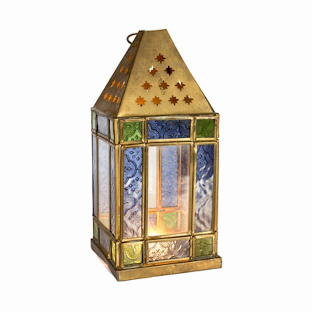 Stained Glass Lantern - Image 1 of 2