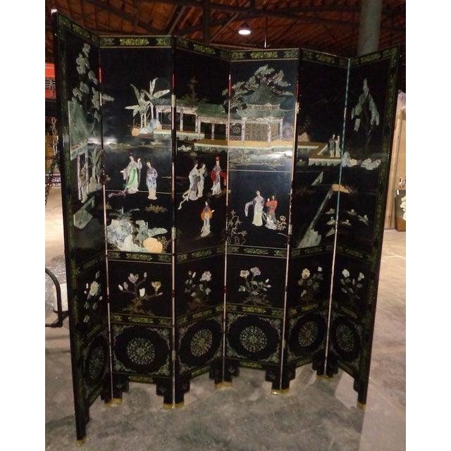 Maitland Smith Asian 6 Panel Screen - Image 5 of 5
