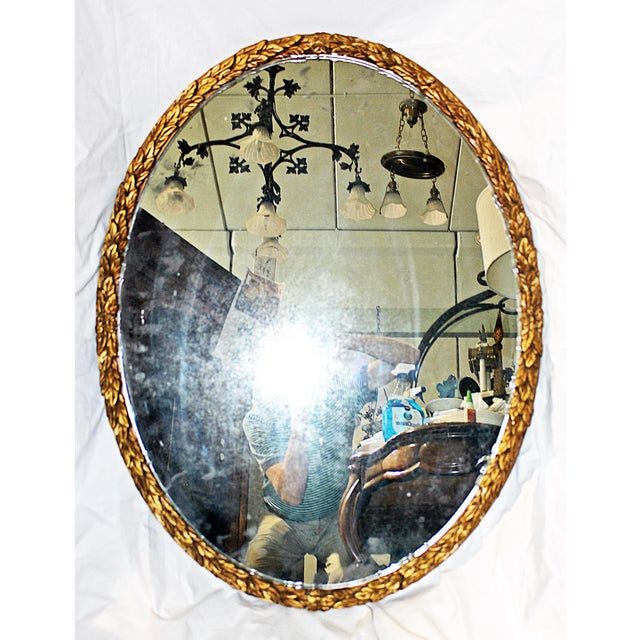 Oval Gilt Wood Mirror - Image 7 of 8