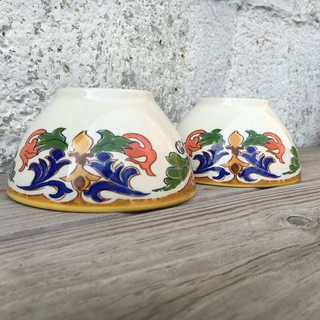 Hand Made Painted Bowls - Pair - Image 8 of 8