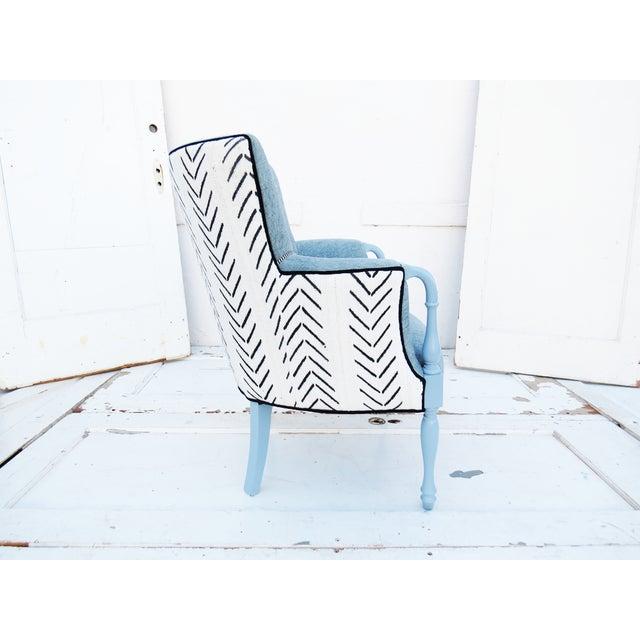 Black & White Mud Cloth Armchair - Image 2 of 5