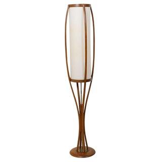 Mid-Century Bio-Morphic Walnut Floor Lamp