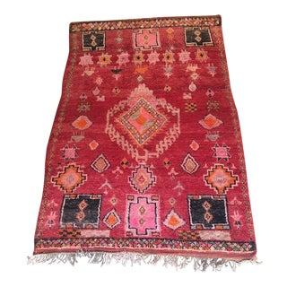 """Vintage Moroccan Boujad Rug - 5'9"""" x 8'8"""""""